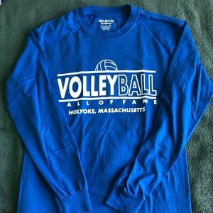 Volleyball Blue Long Sleeve Shirt Size S